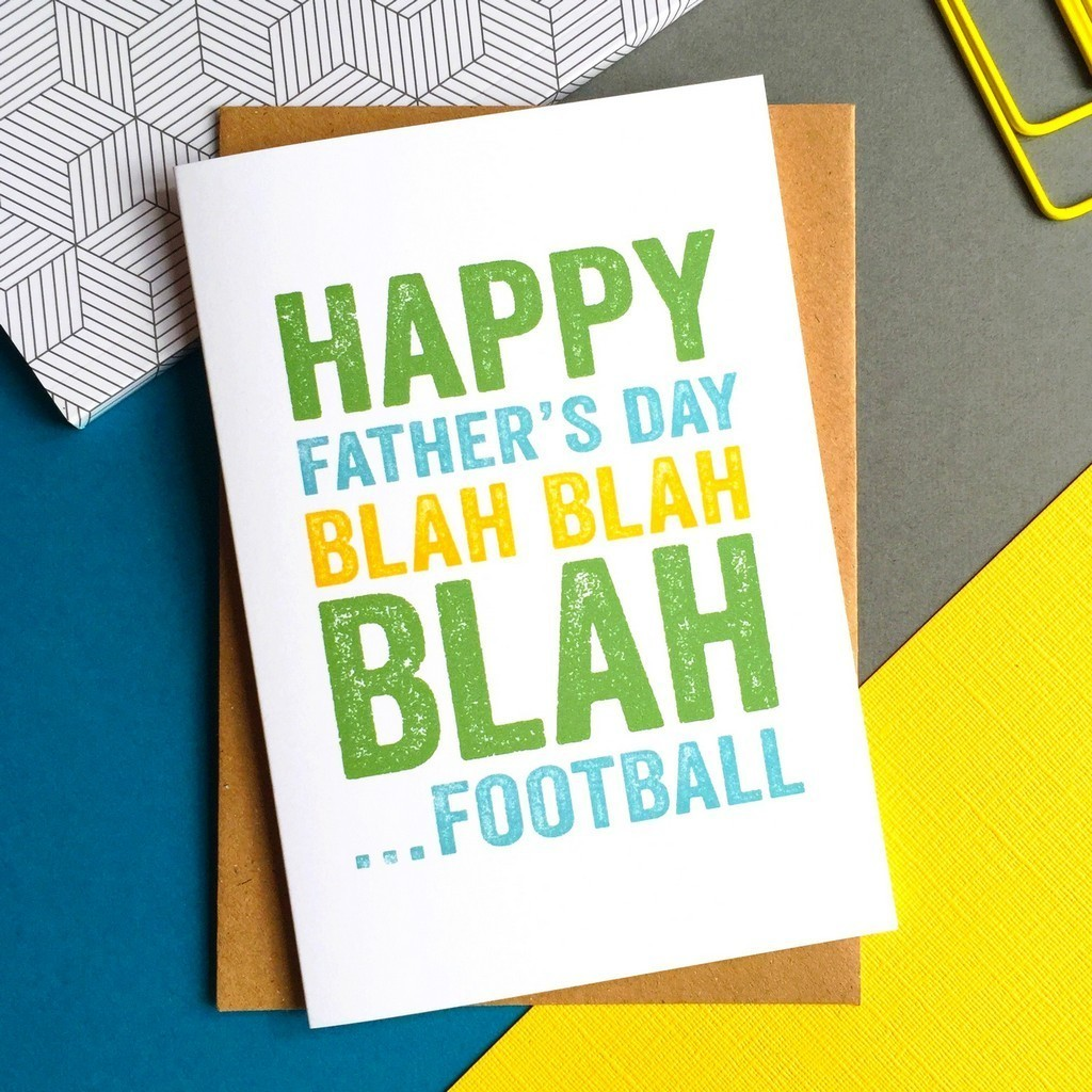 Happy Father's Day Blah Football